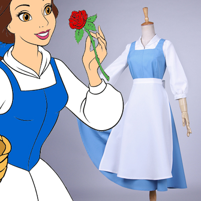 Beauty and the Beast Belle Maid Cosplay Disfraces Carnaval