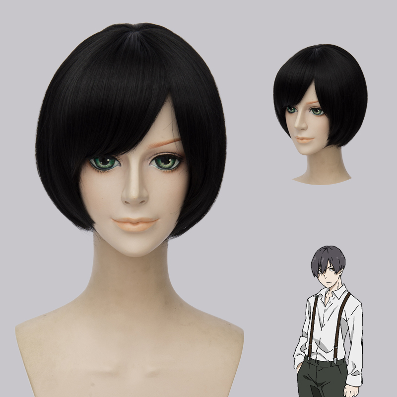 91 Days Avuirio Buruno Black Cosplay Wig