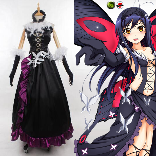 Accel World Kuroyuki hime Kostume Cosplay For Halloween Party Fastelavn
