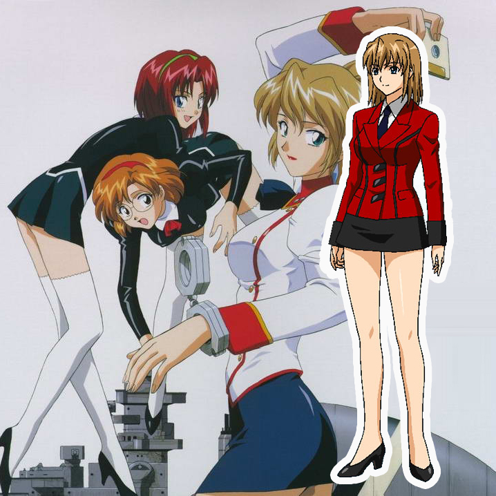 Aika R-16 Red Uniform Cosplay Costumes