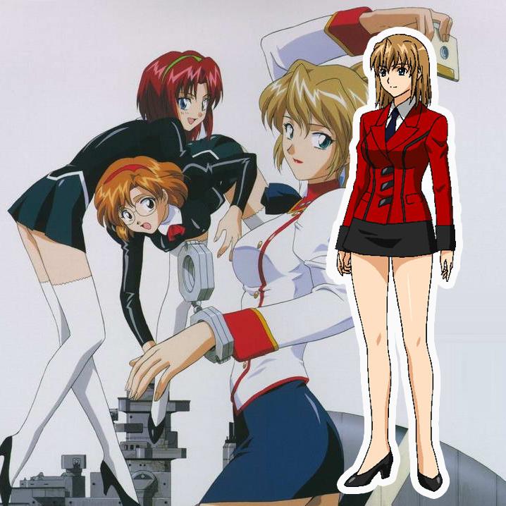 Aika R-16 Red Uniform Cosplay Kostumer Fastelavn