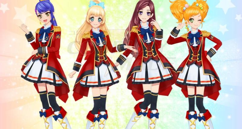 Aikatsu Stars! Nijino Yume Cosplay Kostumer Fastelavn