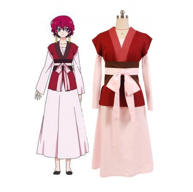 Akatsuki no Yona Princess Dress Cosplay Kostuum Carnaval Halloween