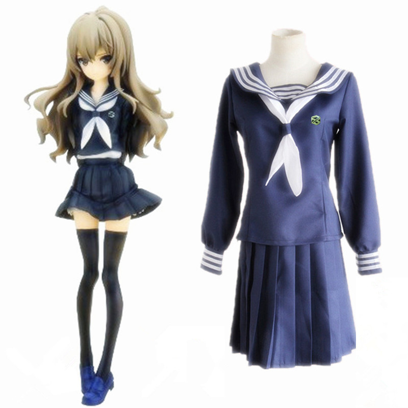 Anime Toradora Aisaka Cosplay Costumes School Uniform