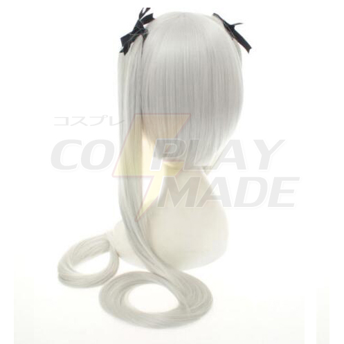 Anime White Long Straight Absolute Duo Julie Sigtuna Cosplay Wig