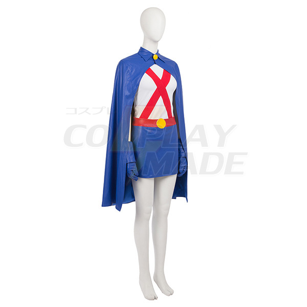 Young Justice Miss Martian Cosplay Kostumer Hele sæt Fastelavn