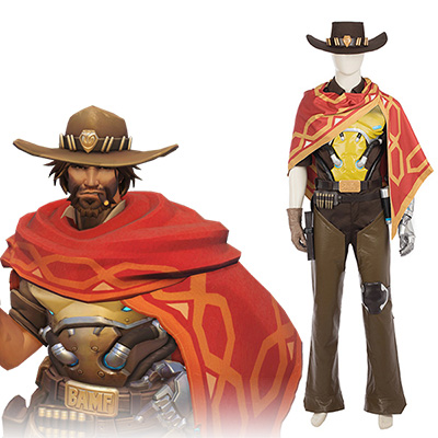 Overwatch Ow Jesse Mccree Cosplay Costume Ensemble Entier Jeu Halloween Carnaval