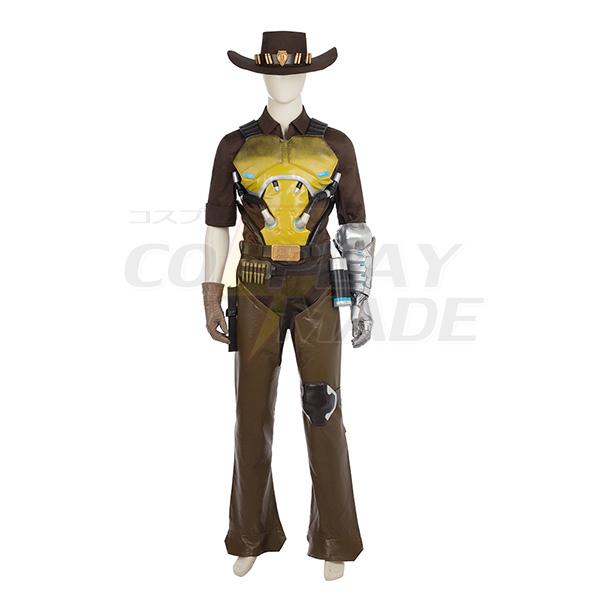 Overwatch Ow Jesse Mccree Cosplay Jelmez Teljes Készlet Játék Halloween Karnevál