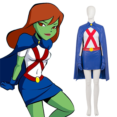 Young Justice Miss Martian Faschingskostüme Cosplay Kostüme(No Shoes)