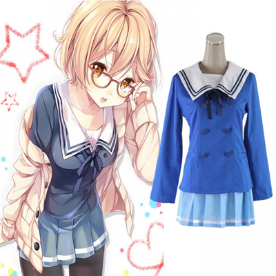 Beyond The Boundary Kuriyama Mirai Cosplay Kostym Karneval