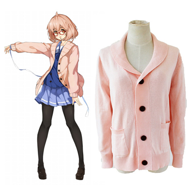 Beyond the Boundary Kuriyama Mirai Sweaters Cosplay Kostym Karneval