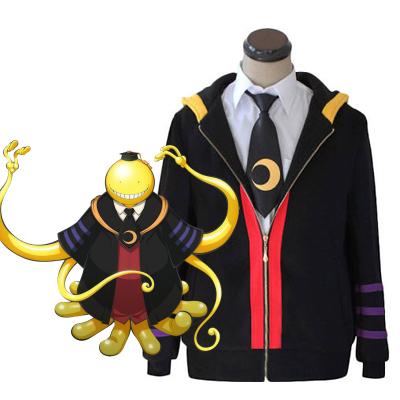 Assassination Classroom Ansatsu Kyoshitsu Korosensei Cosplay Kostyme Hoodie Karneval