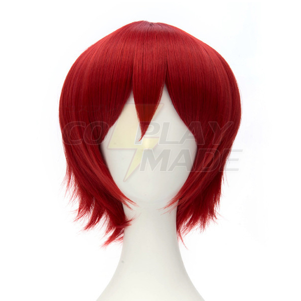Assassination Classroom-Akabane Karuma Short Red Cosplay Peruukki Naamiaisasut