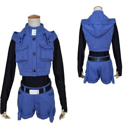 Assassination Classroom Kayano Kaede Cosplay Disfraz Blue Outfit Carnaval