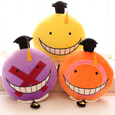 Anime Assassination Classroom Korosensei Cute Face Cosplay Plush Doll(One)