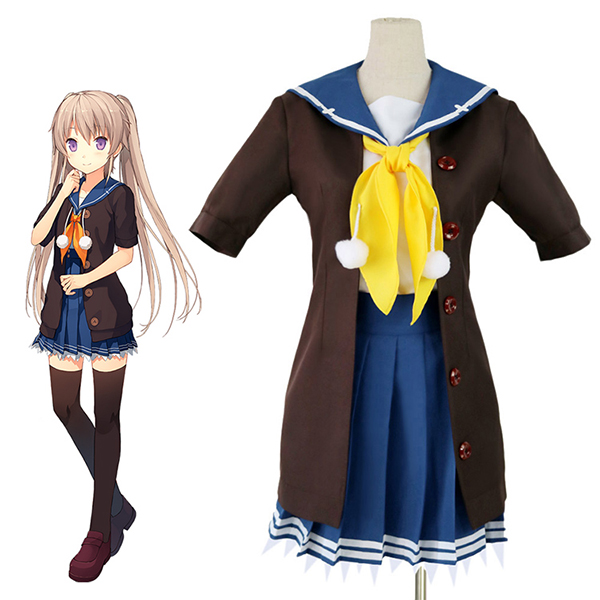 Aokana: Four Rhythm Across the Blauw Mashiro Arisaka Cosplay Kostuum Carnaval Halloween