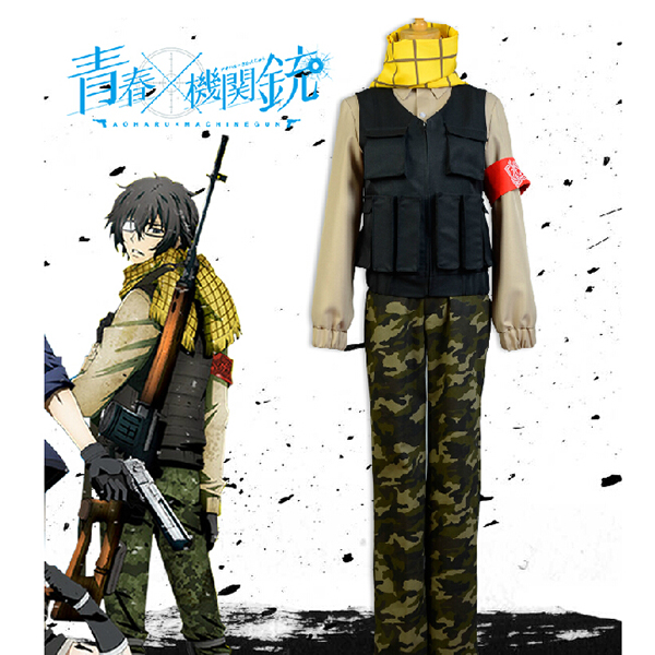 Aoharu x Machinegun Toru Yukimura Uniforme Cosplay Costumi Carnevale
