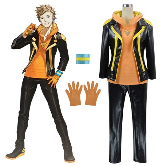 Pokemon GO Pocket Monster Spark Team Instinct Cosplay Costume