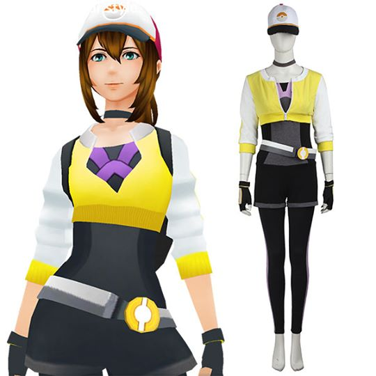 Pokemon GO Pocket Monster Trainer Female Yellow Cosplay Costume