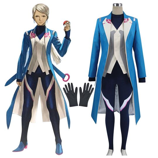 Pokemon GO Pocket Monster Blanche Team Mystic Cosplay Kostym Karneval