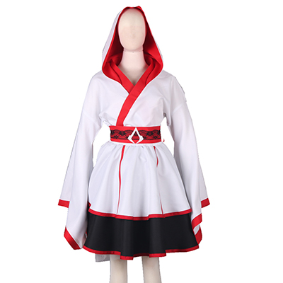 Assassin's Creed III Connor Style Lolita Mekko Cosplay asut Naamiaisasut
