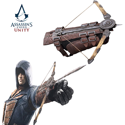 Assassin Creed Unity Arno Arrow Phantom Blade Gauntlet Cosplay Puntelli Carnevale