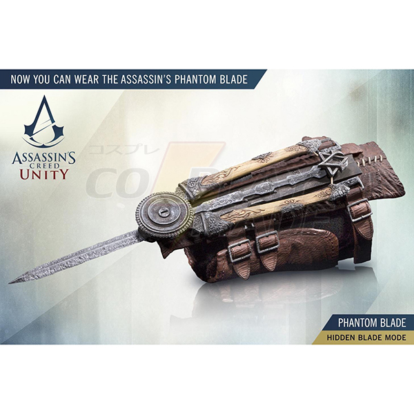 Assassin Creed Unity Arno A zöld íjász Phantom Blade Gauntlet Cosplay Kellékek Karnevál