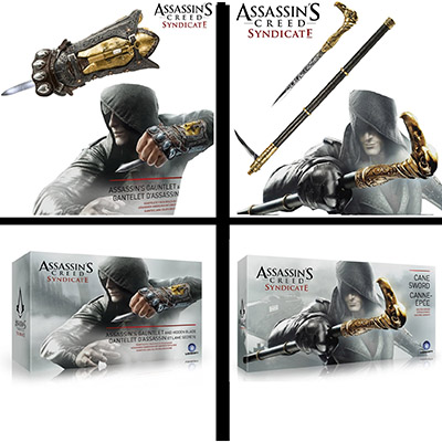 Assassin's Creed Syndicate Jacob Frye Cane Cosplay Rekvisiitta Naamiaisasut