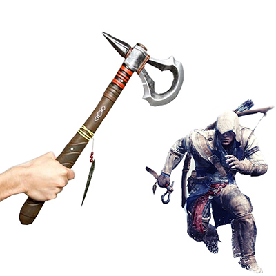 Assassin\'s Creed III Connor Kenway Tomahawk Cosplay Rekvisiitta Naamiaisasut