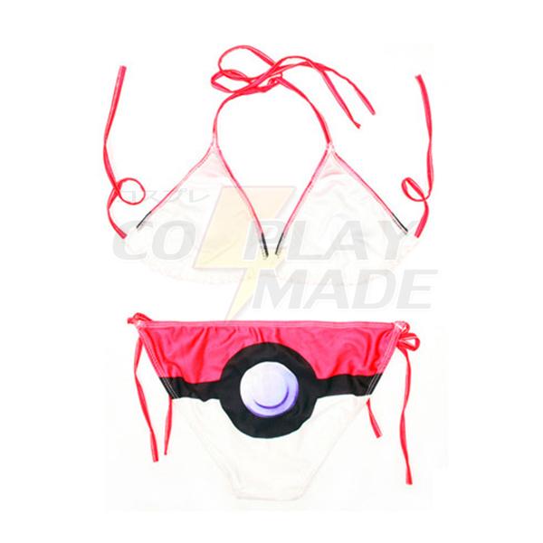 Pokemon Go PokeBall Cosplay Badedragt Bikini Fastelavn