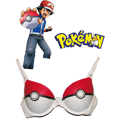 Pokemon Go Poke Monster PokeBall Bra Underwear Custom Made