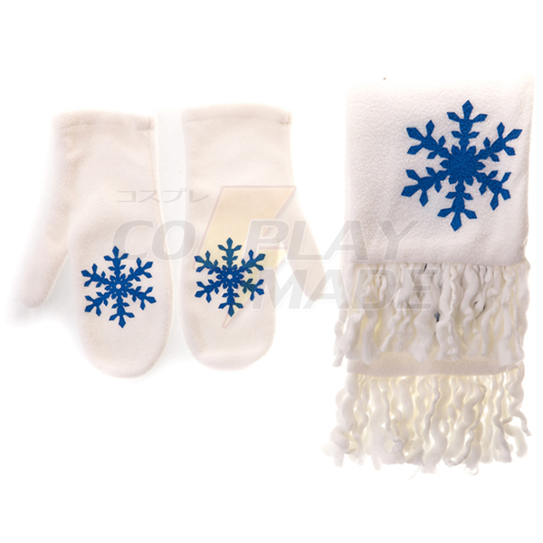 Vocaloid Snow Miku White Scarf and Gloves Cosplay Accessory Fastelavn