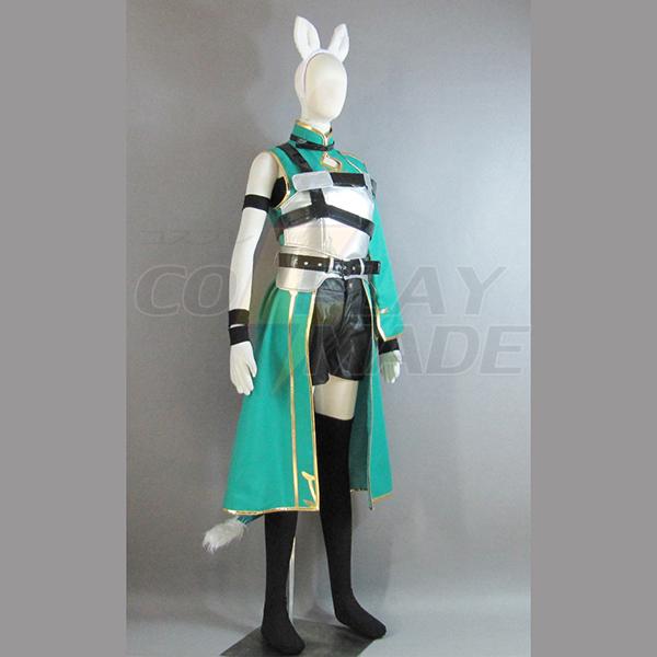 Sværd Art Online II Asada Shino Cosplay Kostume Fastelavn