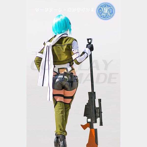 Sword Art Online II Shino Asada Egyenruha Cosplay Jelmez Teljes Készlet Karnevál