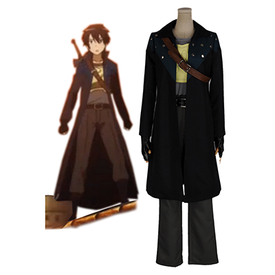 Sword Art Online Kirito 1st Cosplay Costume