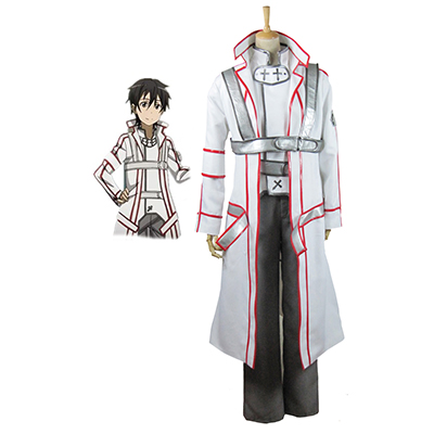 Sword Art Online Knights of the Blood Kazuto Kirigaya/Kirito Cosplay Costume