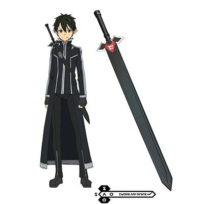 Sword Art Online Kirito Black Miekka Cosplay Rekvisiitta Naamiaisasut