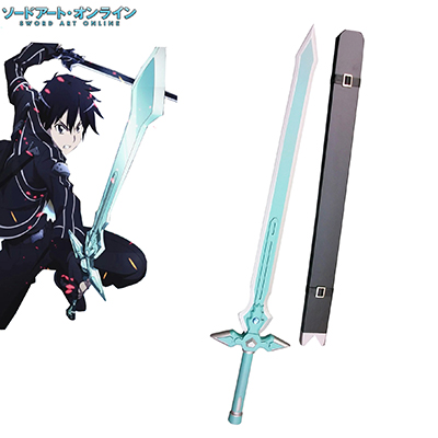 Sword Art Online Kirito Sword Wood Made With Wood Cosplay Props