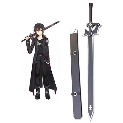 Sword Art Online Elucidator En bois Épée Cosplay Props Carnaval