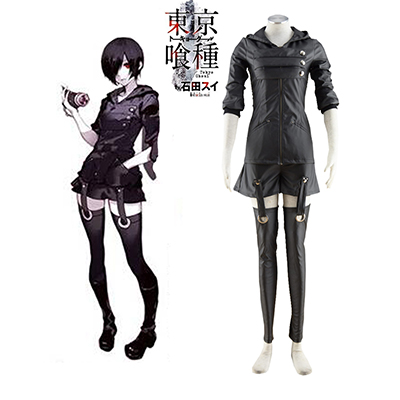 Tokyo Ghoul Kirishima Touka Black Hoodies Cosplay Kostume Fastelavn