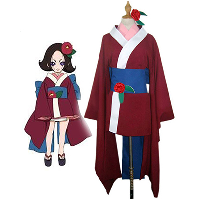 Hell Girl Kukuri Cosplay Kostume Kimono Fastelavn