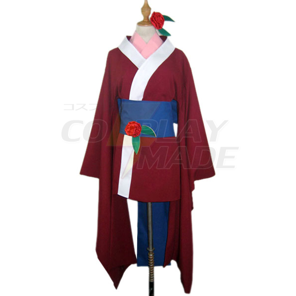 Hell Girl Kukuri Cosplay asut Kimono Naamiaisasut