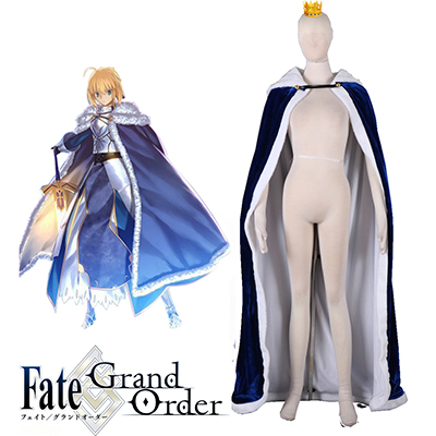 Fate/stay Night Saber Cloak Cosplay Traje Carnaval