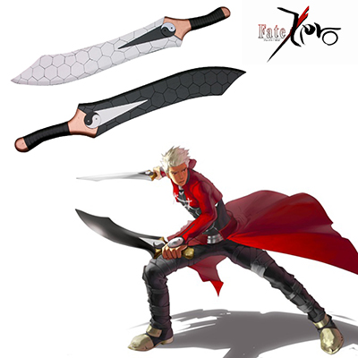 Fate/Stay Night Emiya Archer Gioco Spada Double Saber Cosplay Puntelli Carnevale
