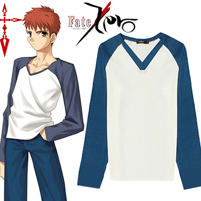 Fate/Stay Night Shirou Emiya T-shirt Cosplay Costumi Carnevale
