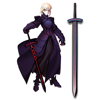 Fate/Stay Night Saber Black Madera Espada Cosplay Apoyos Carnaval
