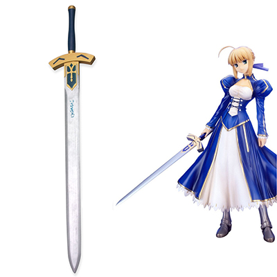 Fate Stay Night Saber Tre Sverd Cosplay Rekvisitter Karneval