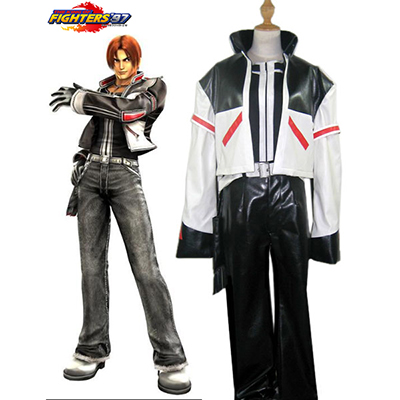 The King of Fighters Kyo Kusanagi Cosplay Kostym Karneval