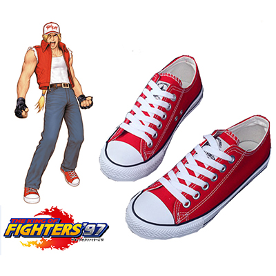 The King of Fighters Terry Bogard Skor Cosplay Rekvisita Karneval