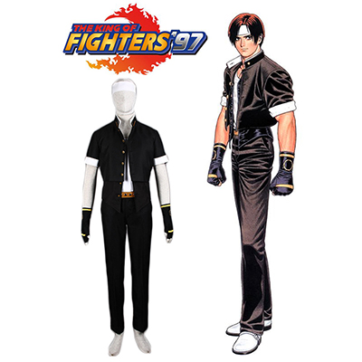 King of Fighters 97 Kyo Kusanagi Combat Cosplay Costume Carnaval